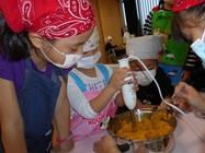 9/26 かぼちゃスープにごはんを入れました!